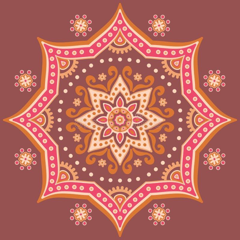 mandala royaltyfri illustrationer