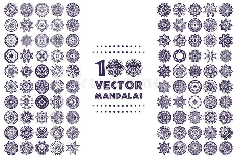 mandala illustration de vecteur
