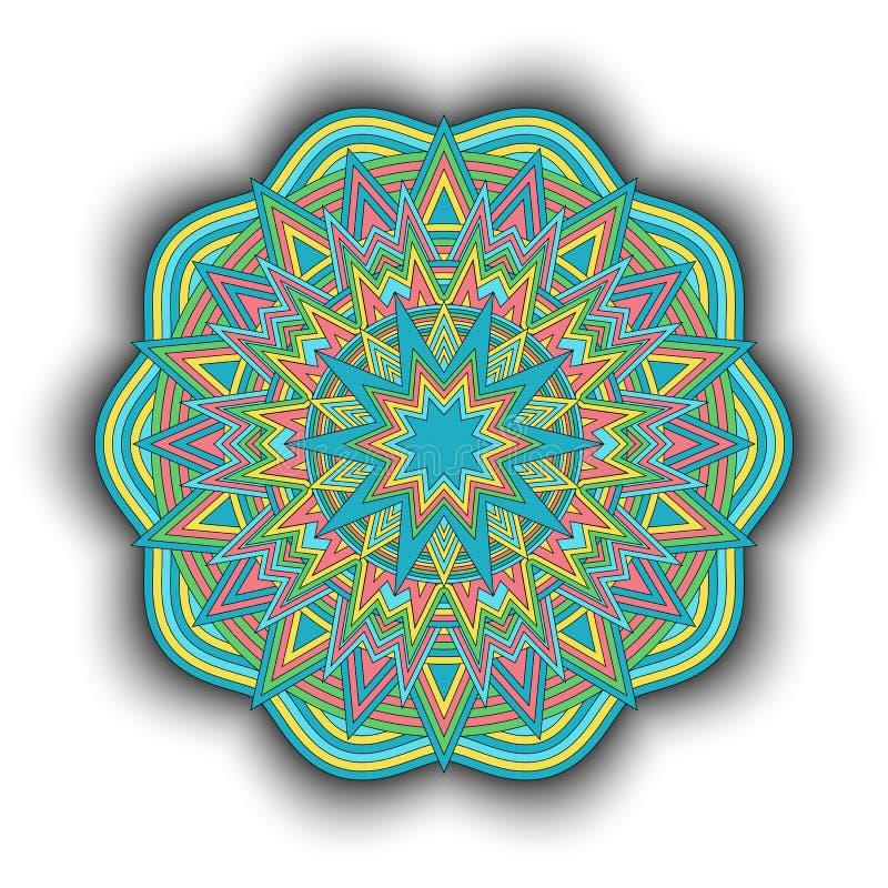 Mandala-08 ilustração stock