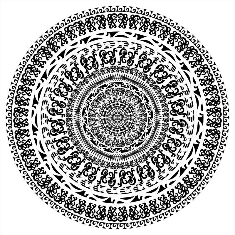 Mandala-11 stock illustrationer