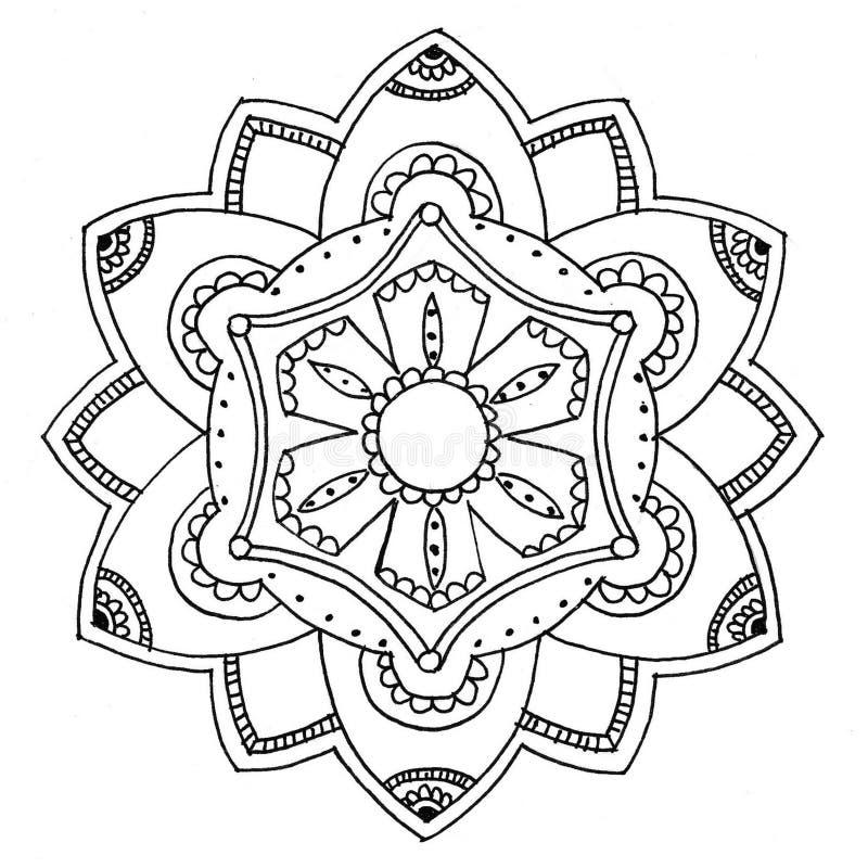 Mandala aan kleur stock illustratie