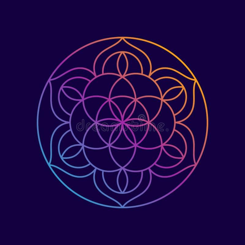 Mandala Abstract Flower Yoga Background illustration libre de droits