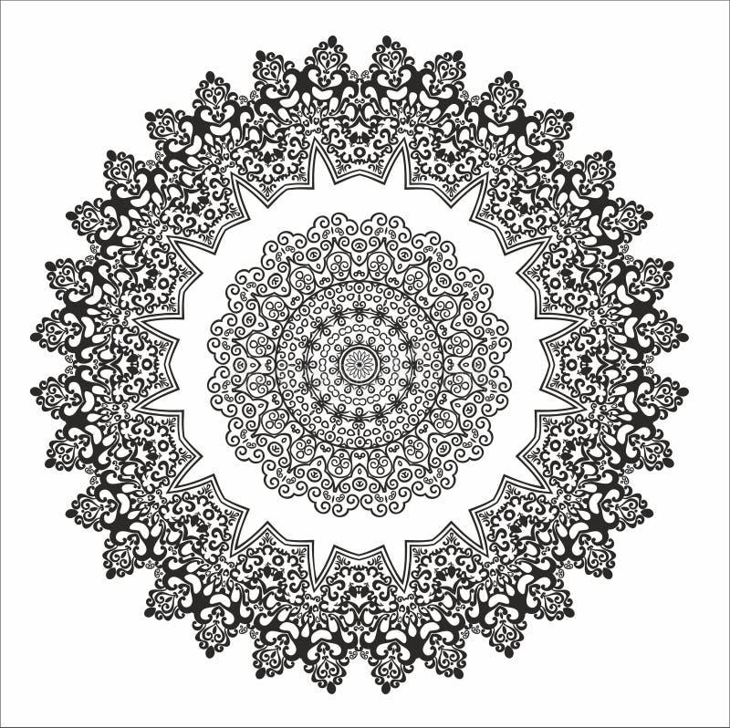 mandala Abstract symbool Open-work cirkel royalty-vrije stock fotografie