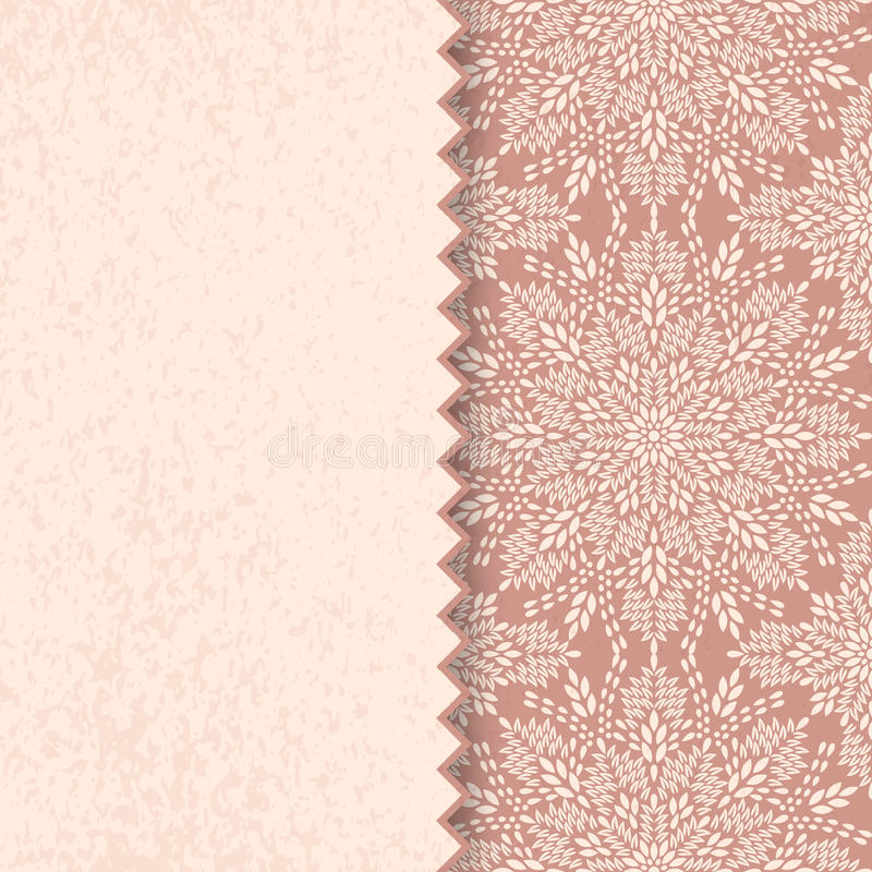 Mandala, abstract tibetan flower background. Indian medallion pattern. Vintage bohemian design. Vector art henna ornament royalty free illustration