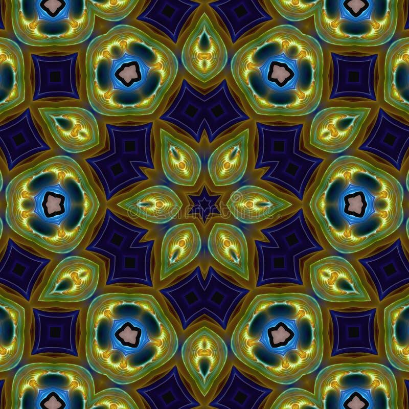 Mandala abstracta de la estrella ilustración del vector