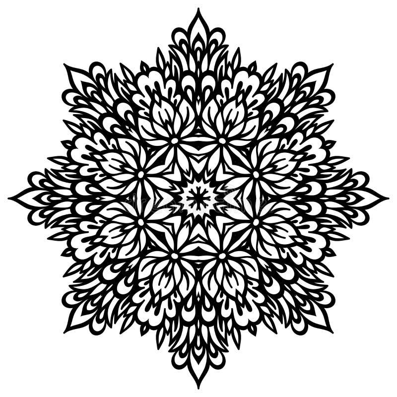 Mandala abstracta de la flor Elemento decorativo para libre illustration
