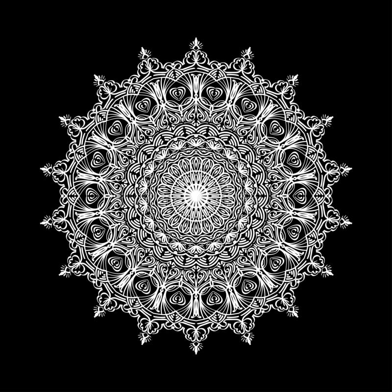 Mandala abstracta Elemento decorativo del diseño para la estera de la yoga, cubierta, tapicería Ornamento en c?rculo Modelo flora libre illustration