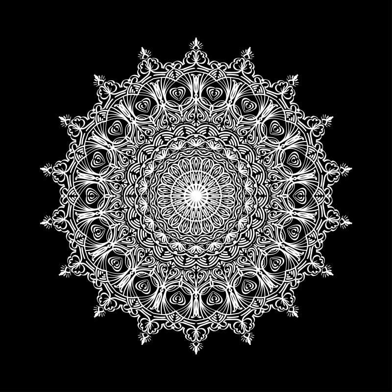 Mandala abstrait Élément décoratif de conception pour le tapis de yoga, couverture, tapisserie Ornement en cercle Configuration f illustration libre de droits