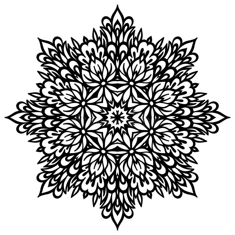 Mandala abstrait de fleur Élément décoratif pour illustration libre de droits