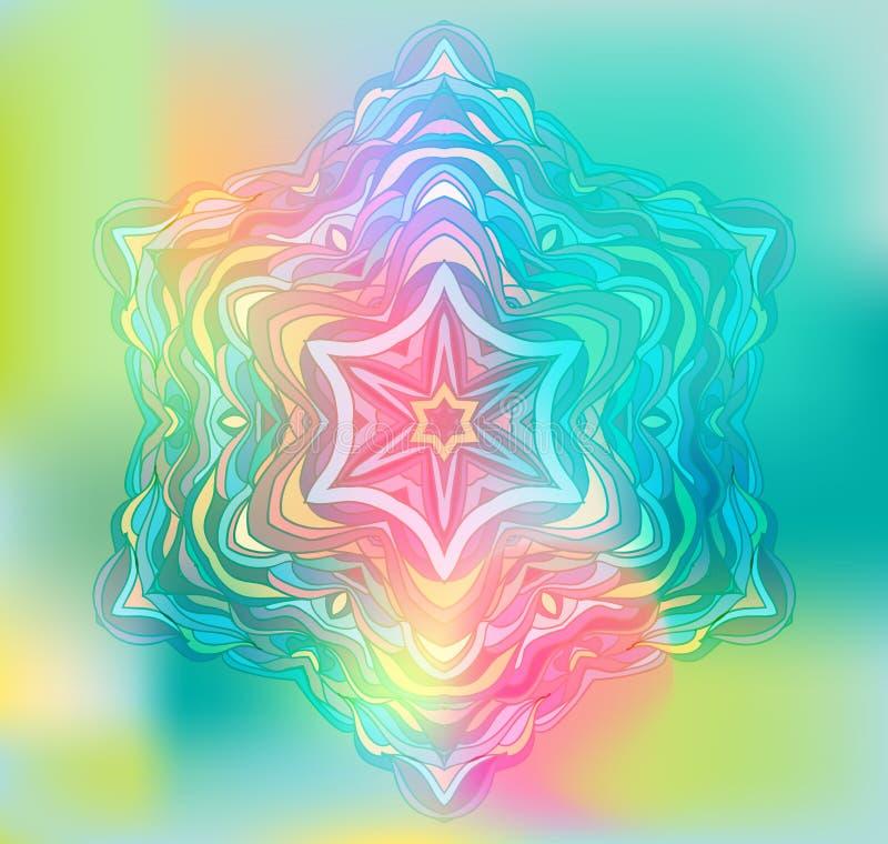 Mandala abstrait de fleur Élément décoratif pour illustration de vecteur