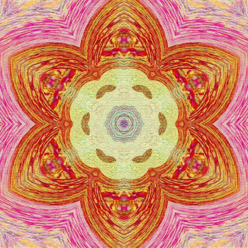 Mandala abstrait de fleur Élément décoratif pour la conception illustration libre de droits