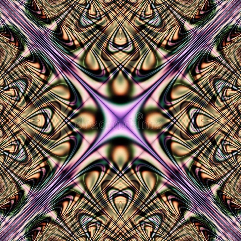Mandala abstrakcjonistycznej tekstury kolorowy psychodeliczny projekt ilustracja wektor