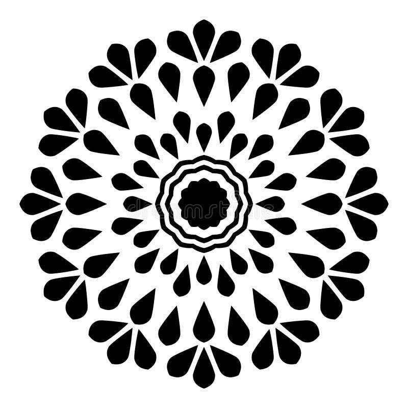 mandala abstrakcyjne Orientał, zawijas ilustracja wektor