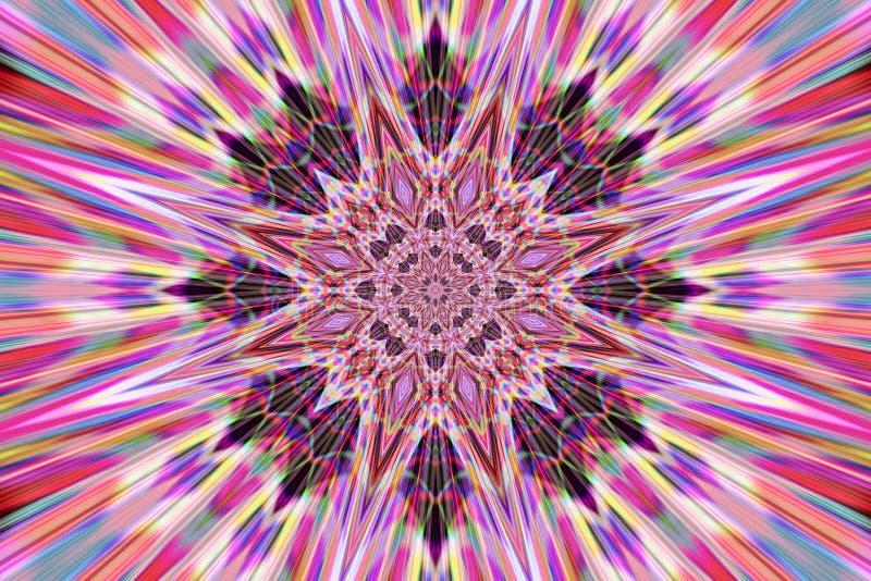 Mandala abstrata ilustração stock