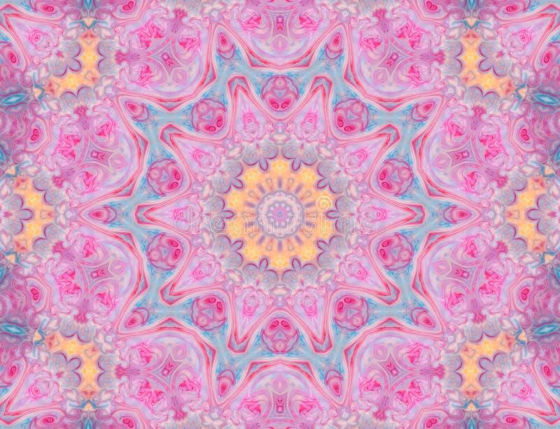 Mandala abstrata Fundo psicadélico hipnótico Teste padrão sem emenda ilustração do vetor
