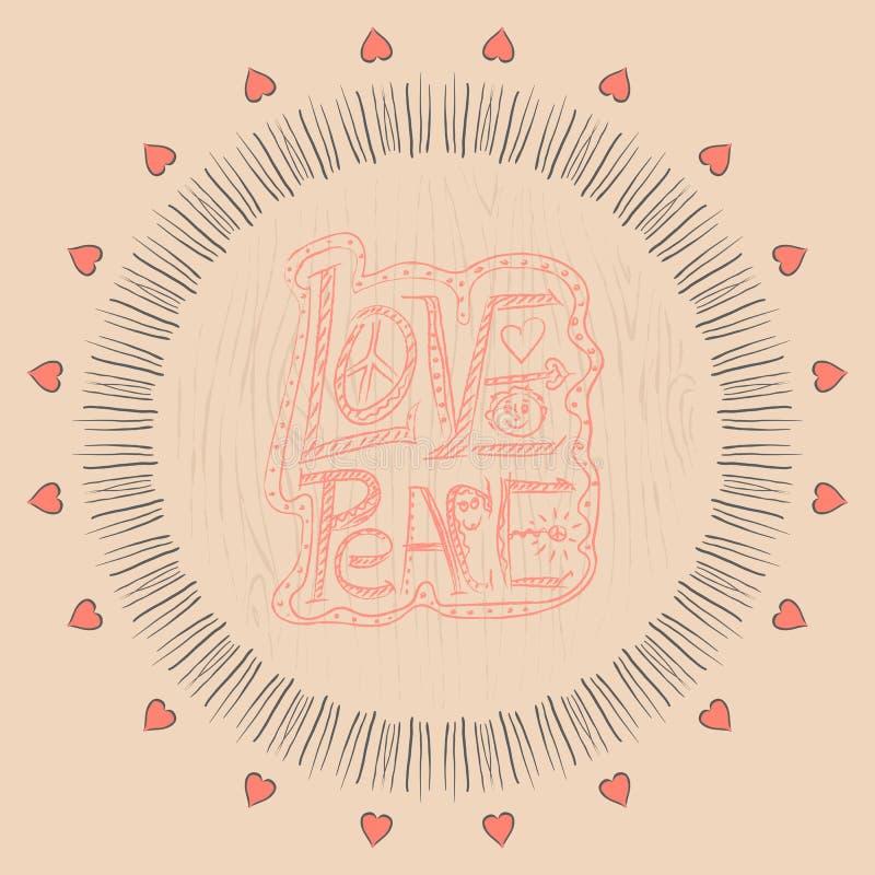 mandala Amore e pace royalty illustrazione gratis
