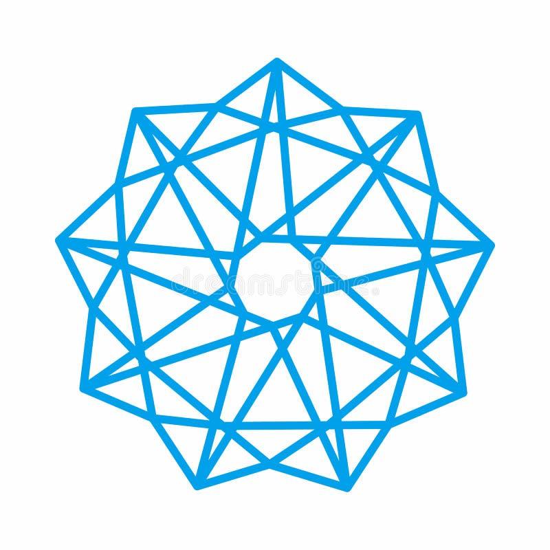 Mandala Arab India Geometric Ornament Vector для каллиграфии иллюстрация вектора