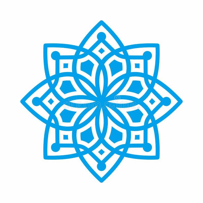 Mandala Arab India Geometric Ornament Vector для каллиграфии бесплатная иллюстрация