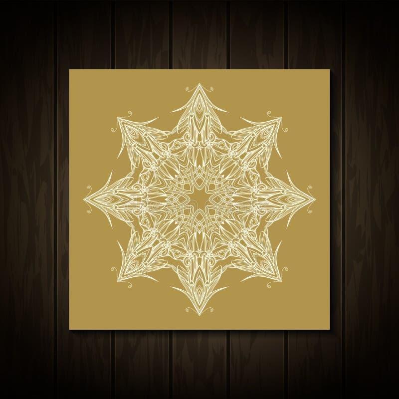mandala Arabisches, islamisches Vektorgestaltungselement vektor abbildung