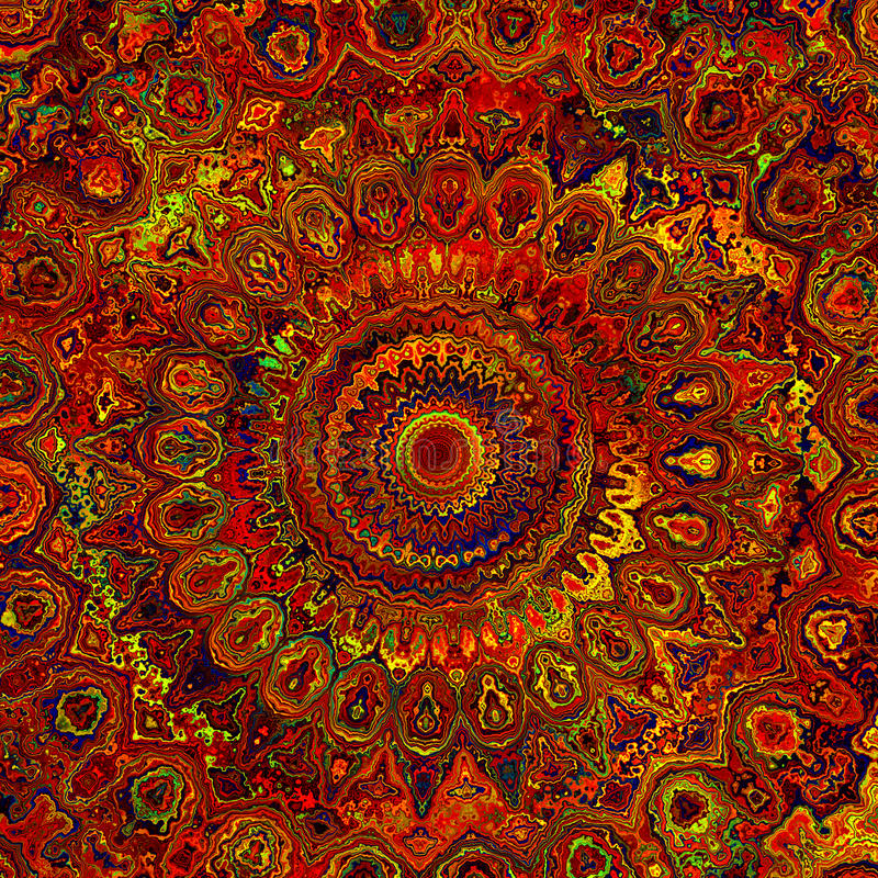 Mandala Art abstraite images stock