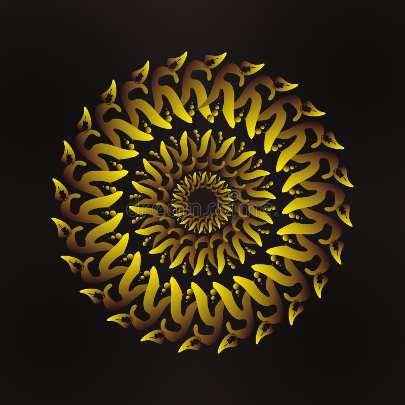 Mandala art. Decorative Elements. Hand Drawn Background. Islam, Arabic, Indian, Ottoman Motifs royalty free illustration