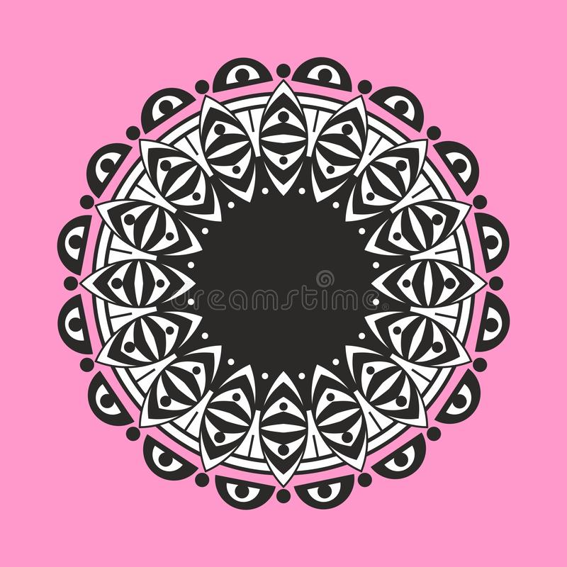 Mandala art . asian indian ethnic patterns background vector illustration stock illustration