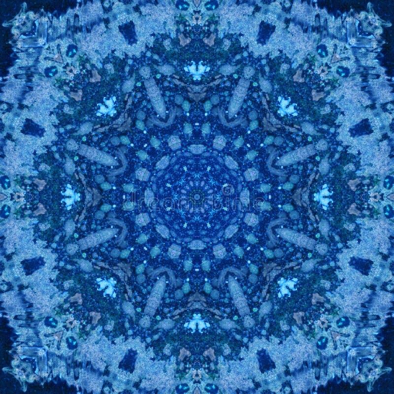 Mandala with art handmade watercolor texture. royalty free stock photography