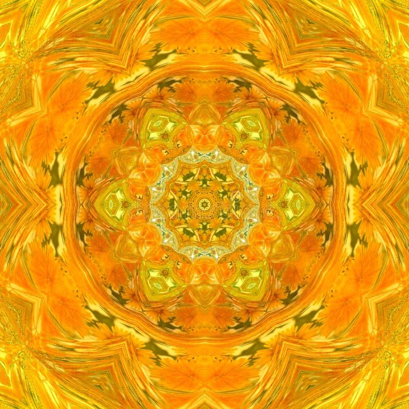 Mandala assez orange de tuile illustration de vecteur