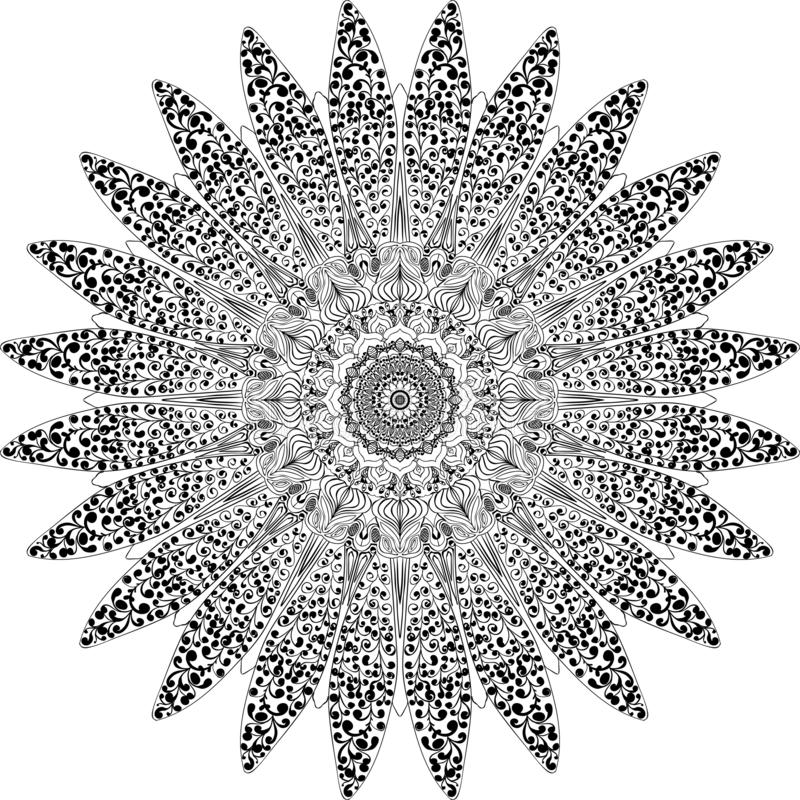 Mandala assorbita il manuale illustrazione vettoriale