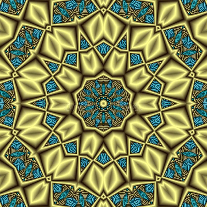 Mandala asteca do tesouro ilustração stock