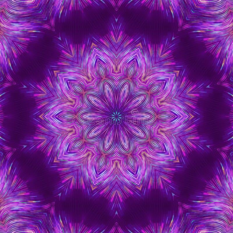 Mandala astratta porpora di frattale Arte illustrazione vettoriale