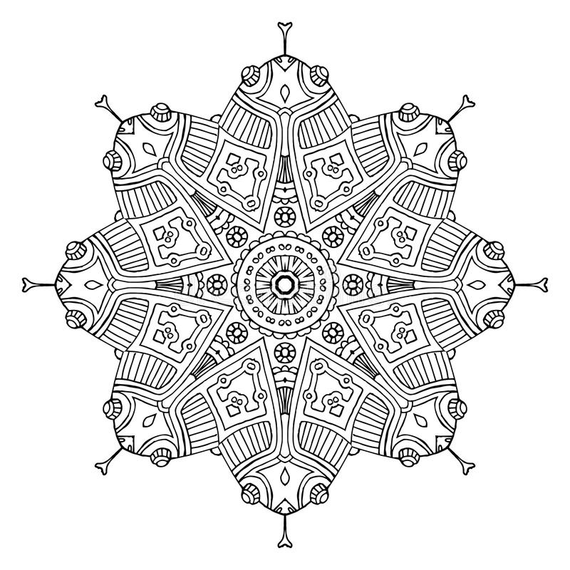 Mandala Aztèque De Grenouille Illustration de Vecteur - Illustration ...