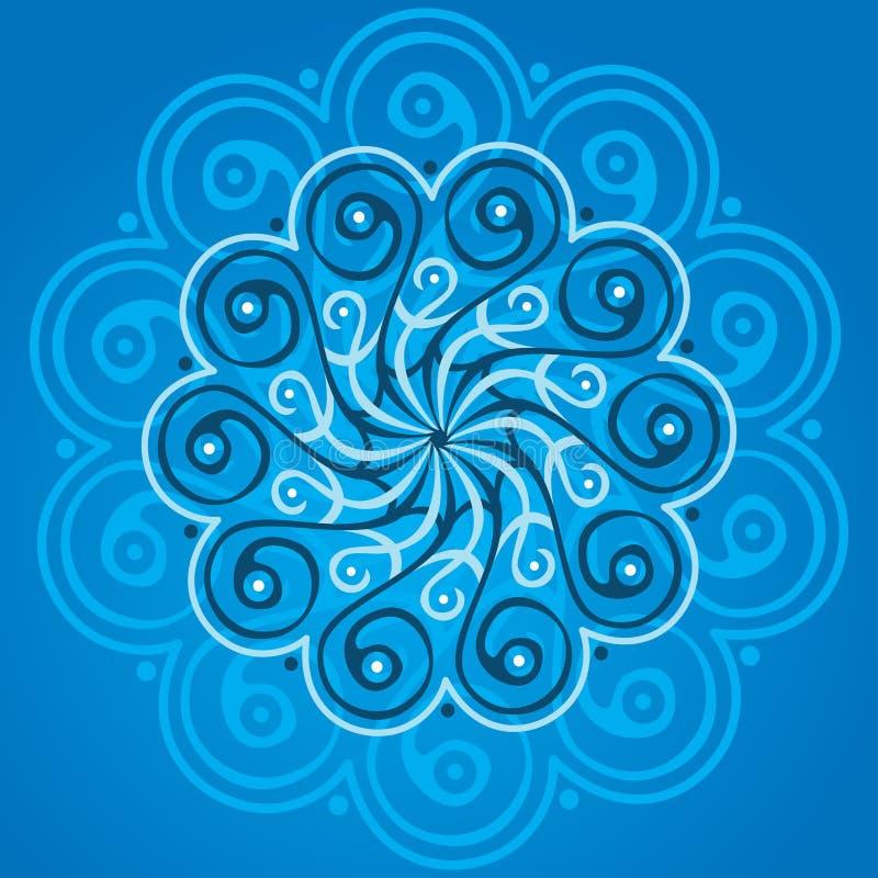 Mandala azul ilustração do vetor