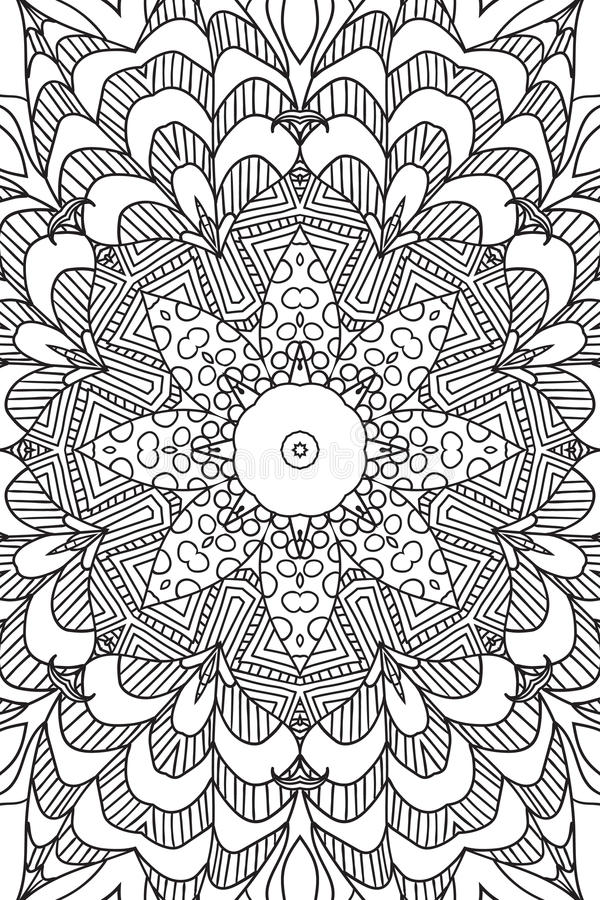 Mandala background. Ethnic decorative elements. Hand drawn . Coloringg book for adults. Mandala background. Round Ornament.. Coloring book for adults. Oriental vector illustration