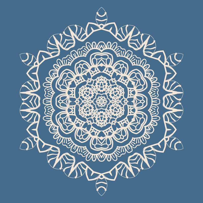 Mandala Background resumida para la tarjeta de felicitación stock de ilustración