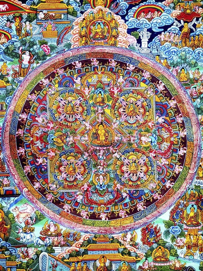 Mandala. Beautiful historic tibetian Mandala - photo royalty free stock images