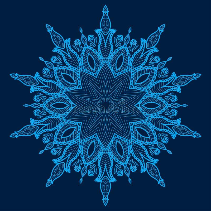 Mandala. Bello fiore disegnato a mano. royalty illustrazione gratis