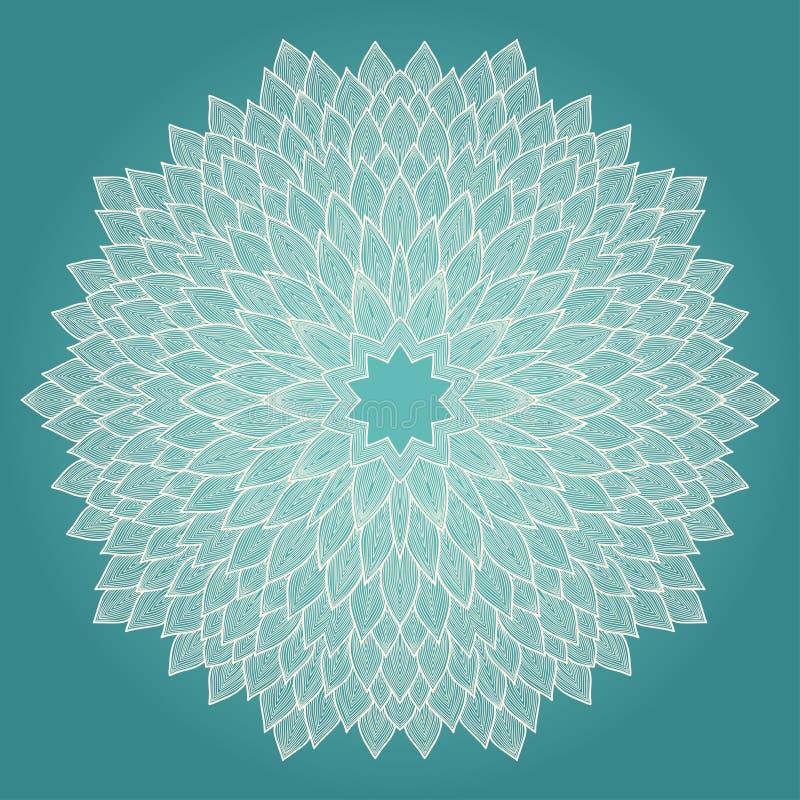 Mandala. Bello fiore disegnato a mano. illustrazione vettoriale