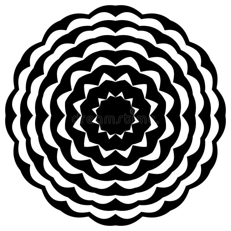 Mandala in bianco e nero Fiore, grafico royalty illustrazione gratis