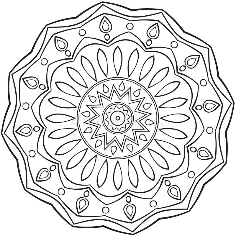Mandala stock vector. Illustration of shape, symmetry ...