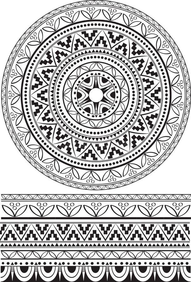 Mandala blanco y negro libre illustration