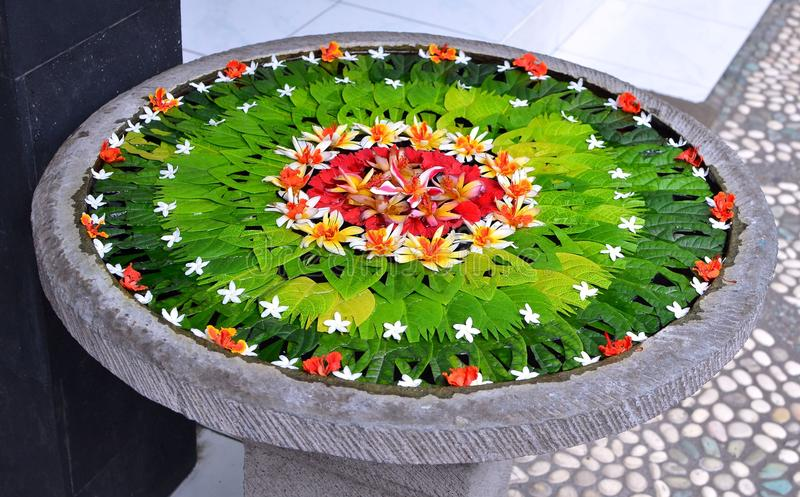 Mandala Blessing Bali Indonesia arkivbild