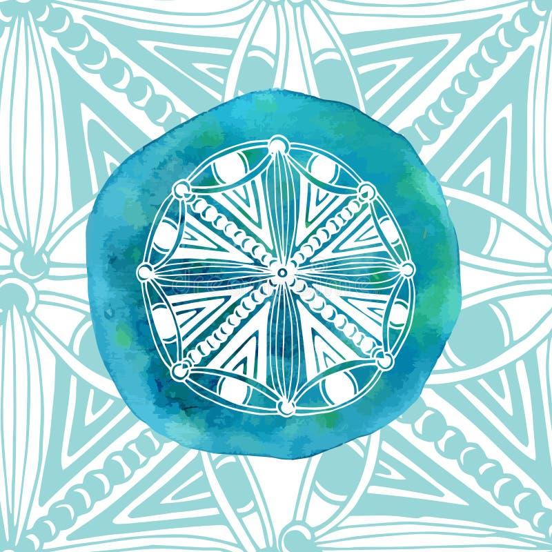 Download Mandala Blu Dell'acquerello Con Fondo Ornamentale Stile Asiatico Logo O Icona Di Vettore Illustrazione Vettoriale - Illustrazione di buddha, spazzola: 56882169