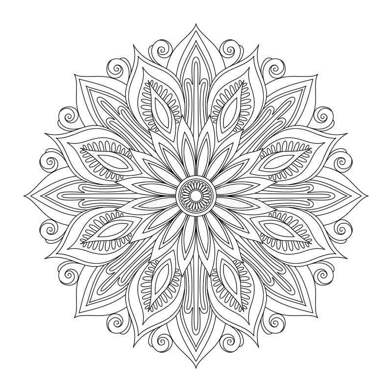 Mandala bonita de Deco (vetor) ilustração do vetor