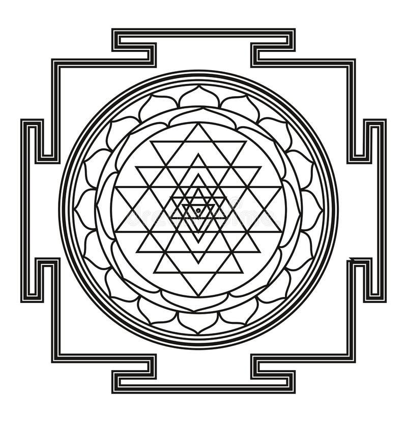 Mandala bonita do preto de Deco do vetor ilustração royalty free