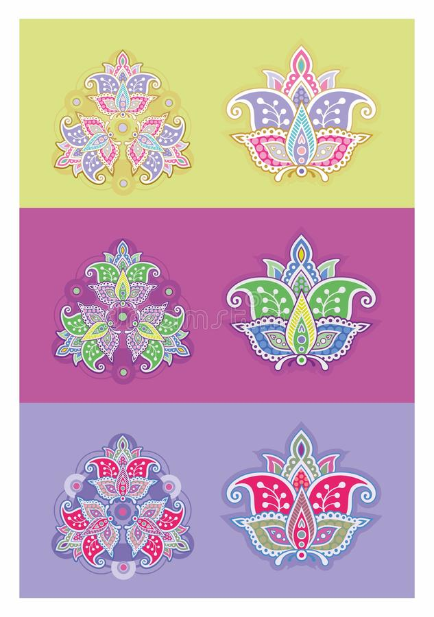 Mandala bonita quadrada ilustração royalty free