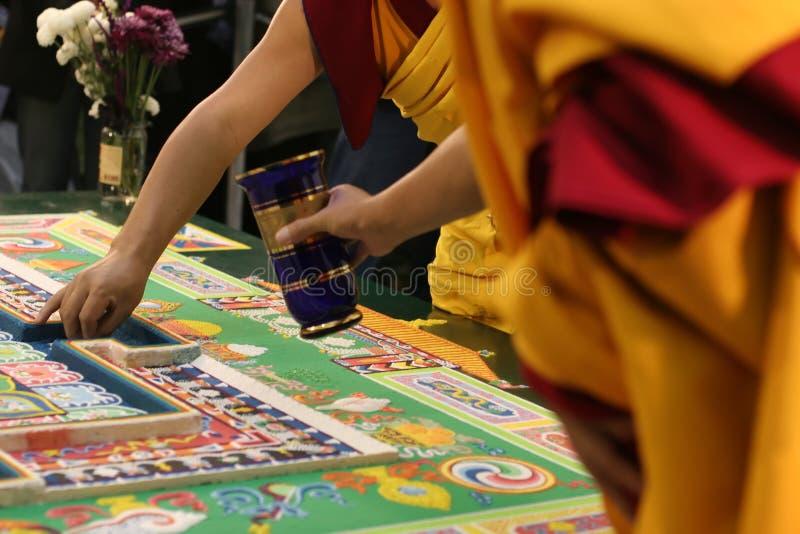 Mandala bouddhiste tibétain photos libres de droits