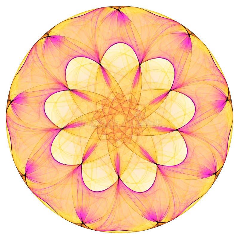 Mandala brillante ilustración del vector