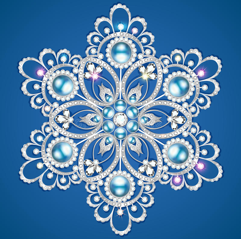 Mandala broszki biżuteria, projekta element ilustracja wektor