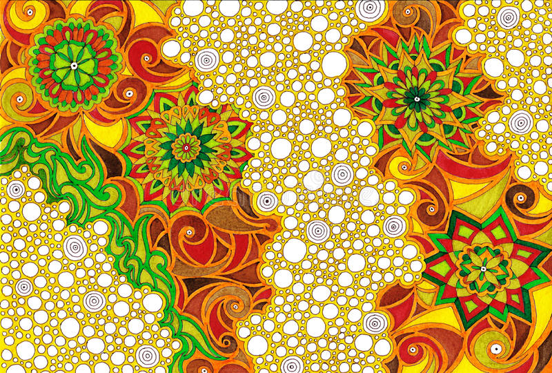 Mandala bubbles stock photo